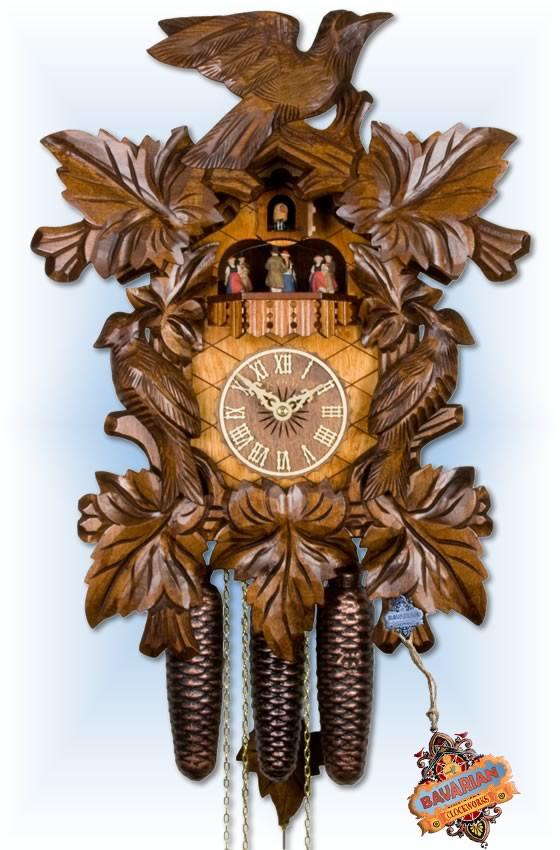 Adolf Herr   472-1 8tmt   19''H   Cuckoo Birds   Traditional   cuckoo clock   full view