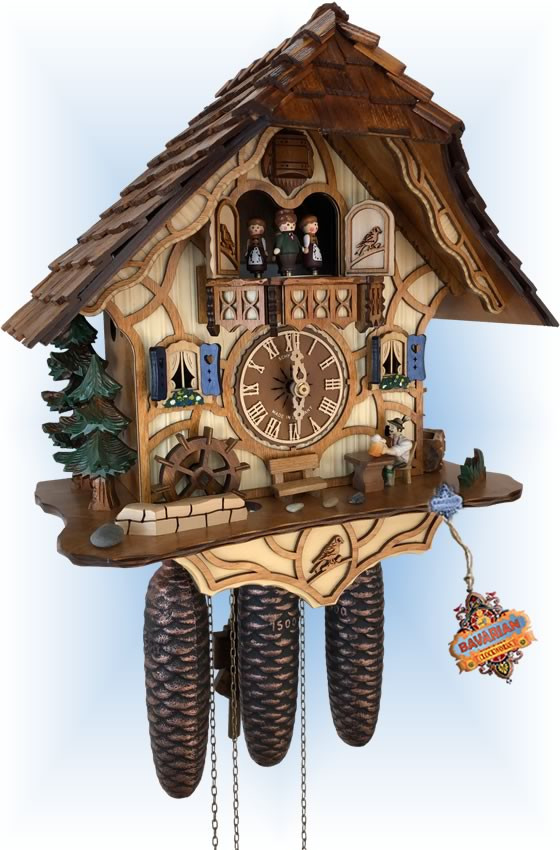 Schneider   13''H   Beer Break   Chalet style   cuckoo clock   full view
