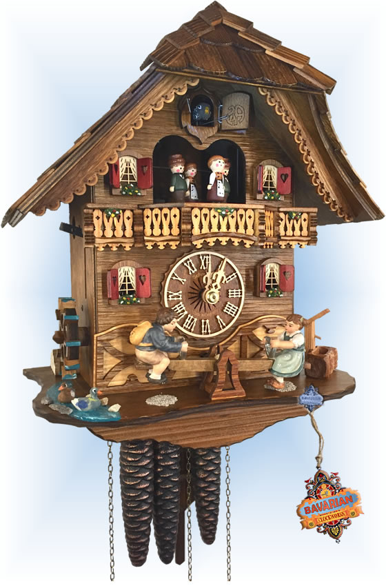 Schneider   See-Saw   Chalet style   cuckoo clock   full view