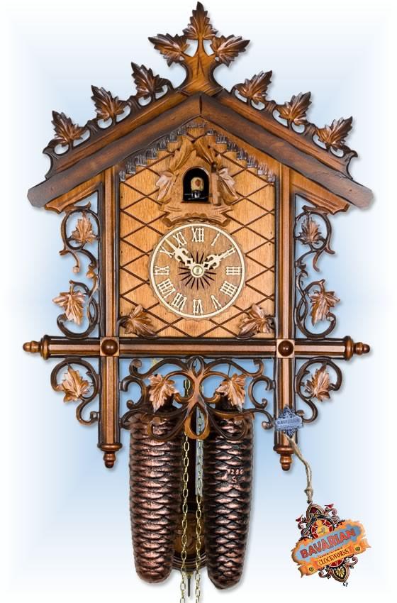 Adolf Herr | 300/18T | 14''H | Railway House | Vintage | cuckoo clock | full view