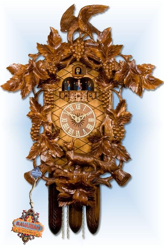 Adolf-Herr | 621/1 | 24''H | Fox Vineyard | Traditional | cuckoo clock | full view