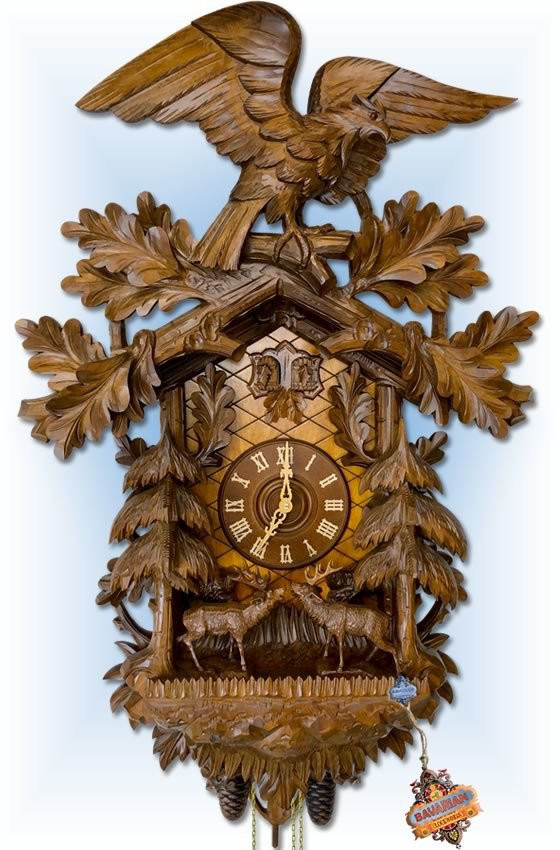 Rombach-Haas | 8399 | 36''H | Great Forest | Traditional | cuckoo clock | full