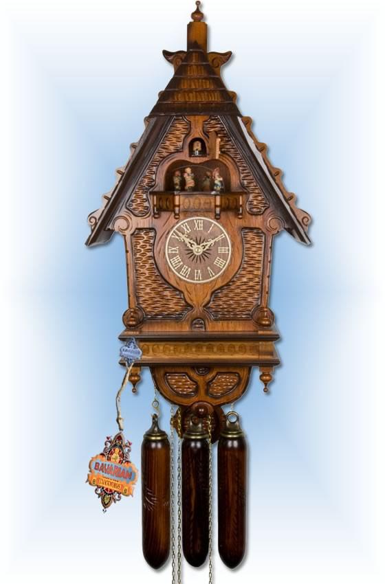 Adolf Herr   600/1 8TMT   24''H   1870s Railway   Vintage coo coo clock   full view