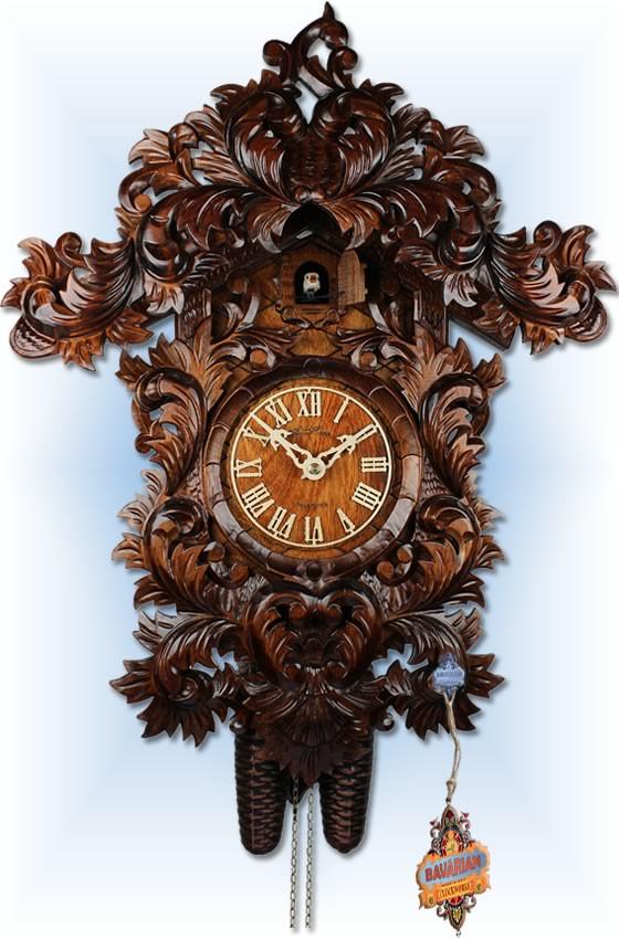 Adolf Herr | 610/8T | 21''H | Baroque | Vintage | cuckoo clock | full view