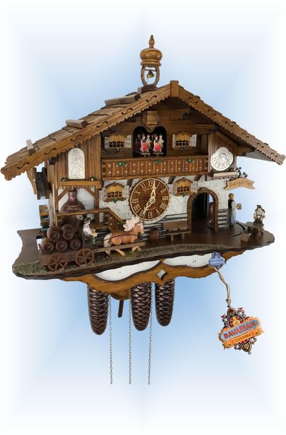 Schneider   18''H   Brauerei   Chalet style   cuckoo clock   full view