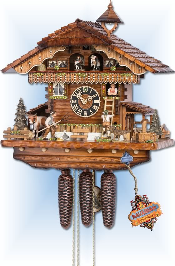 Hones | 86210t | 19''H | Pitchfork | Chalet style | cuckoo clock