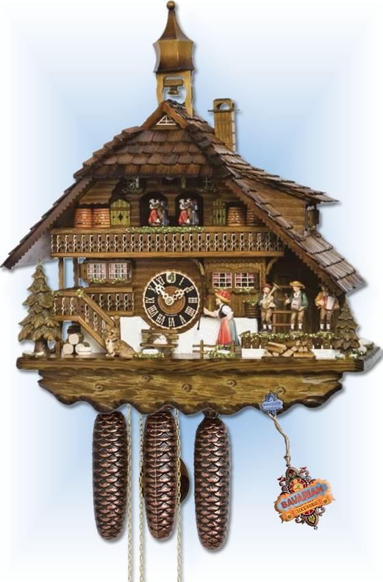 Hones | 8680T | 24 inch | Husli House | Chalet | cuckoo clock | full view