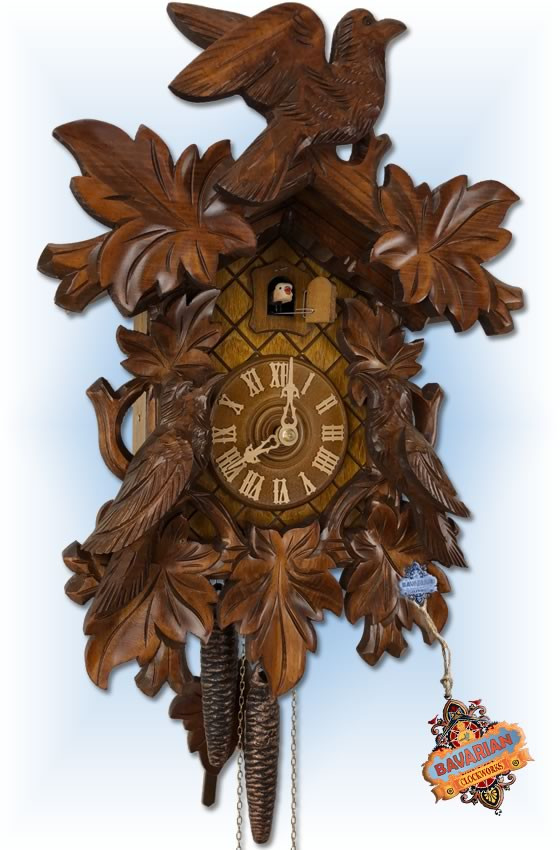 classic birds cuckoo clock - full view