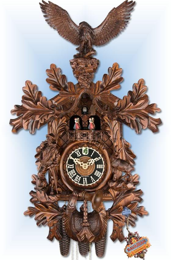 "Eagle Hunter 28"" Cuckoo Clock"