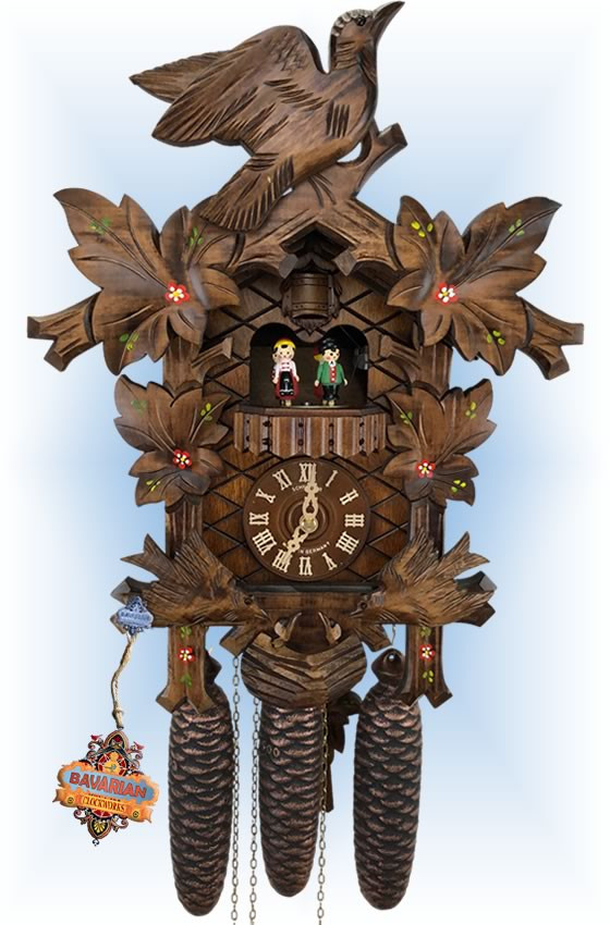 Schneider | 17''H | Floral Birds | Traditional | cuckoo clock | full view