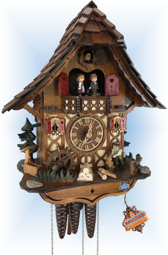 Schneider | Woodsman | Chalet style | cuckoo clock | full view
