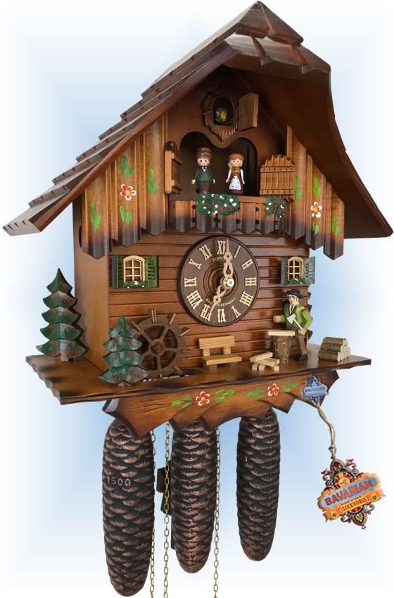 Woodcutter | Cuckoo Clock | by Schneider | full view