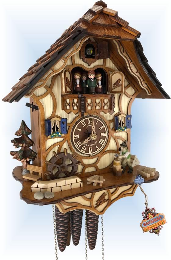 Schneider | Working Woodsman | Chalet style | cuckoo clock | full view