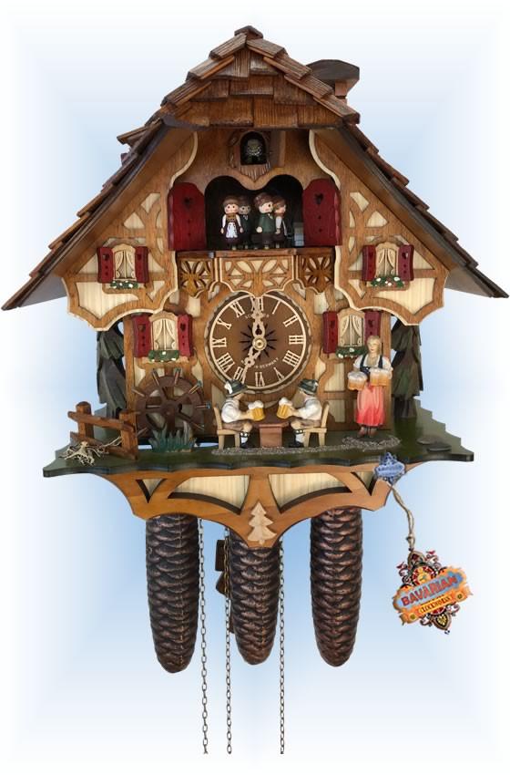 Barmadchen   Cuckoo Clock   by Schneider   full view