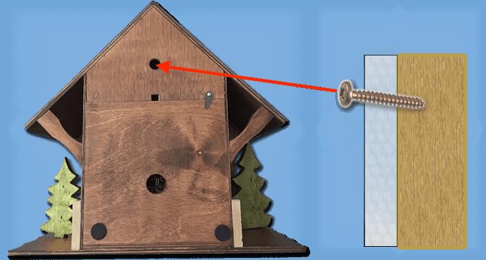how to hang a cuckoo clock
