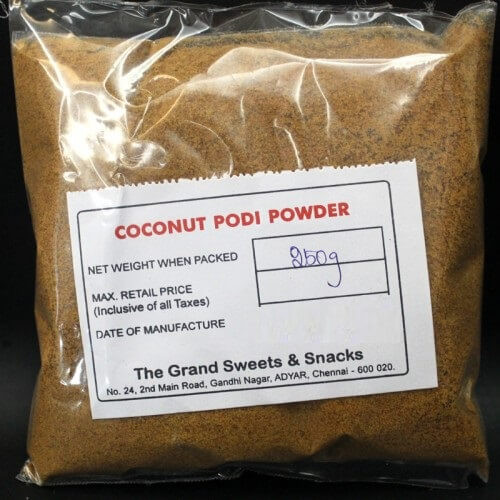 Coconut podi powder  - 250 gms