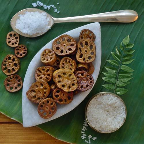 Thamarai Kilangu Vathal - Lotus Root