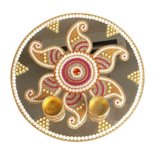 Arathi Plate Acryclic Gold