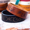 Handwritten -Signature  Leather Bracelets