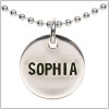 Sterling silver stamped name necklace