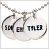 Small size, silver disc stamped name necklace - up to 7 characters