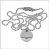 Large size silver,  stamped silver disc name necklace - up to 11 characters