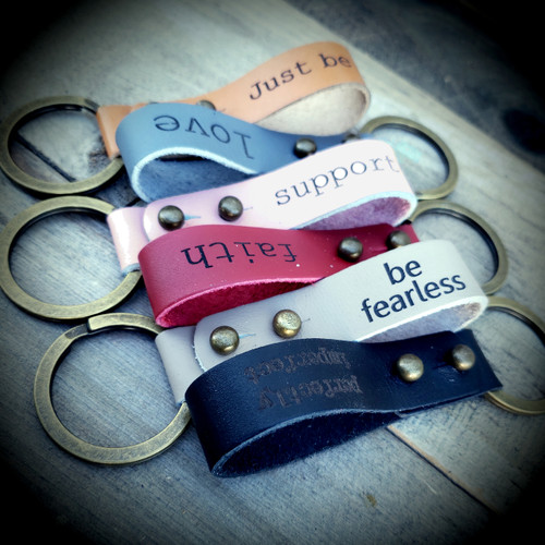 Engraved  leather key rings