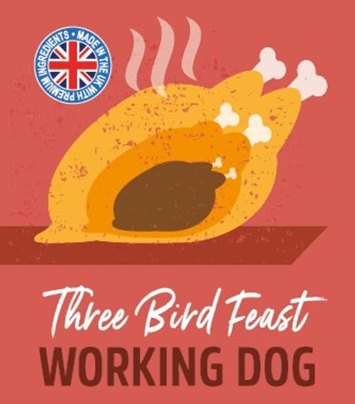 Working Dog 3 Bird Feast 500g