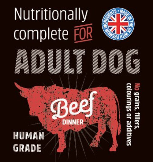 Raw Menu Adult Beef Dinner 500g