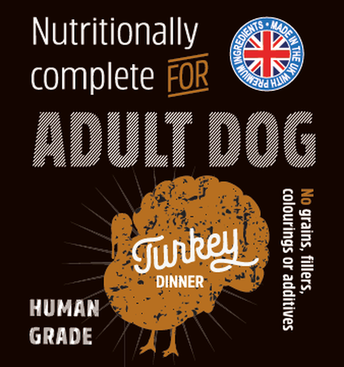 Raw Menu Adult Turkey Dinner 500g