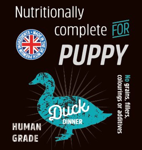 Raw Menu Puppy Duck Dinner 500g