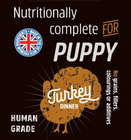 Raw  Menu Turkey Dinner Puppy 500g