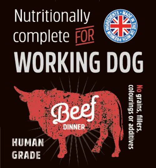 Raw Menu Puppy Beef  Dinner 500g