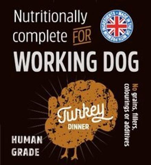Raw Menu Working Dog Turkey Dinner 500g