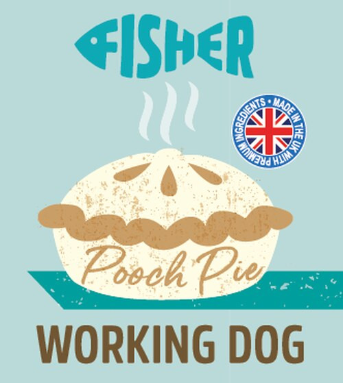 Raw Menu Working Dog FisherPooch Pie 500g