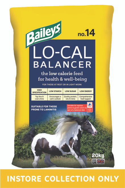 Lo-Cal Balancer is a top specification nutrient-dense pelleted balancer, containing all a horse or pony needs for health and well-being, without the calories associated with a traditional mix or cube.  Quality protein sources supply essential amino acids to build and repair muscle and other tissues, including tendons and hooves, while added linseed contributes essential Omega 3 fatty acids for supple skin and a super-shiny coat.  Lo-Cal's formula has been subtly amended to accomodate this, and the other improvements, which have no effect on the overall calorie (DE) content of the original Low Calorie balancer!