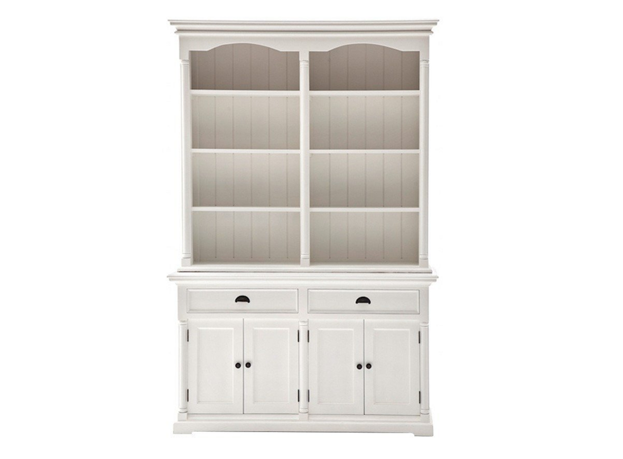 Swell Marseille Buffet And Open Hutch Cabinet In White Home Interior And Landscaping Ologienasavecom