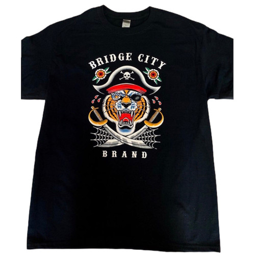 Bridge City Brand Men's Tiger Pirate T-Shirt