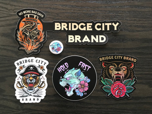 Bridge City Brand Sticker Pack #1