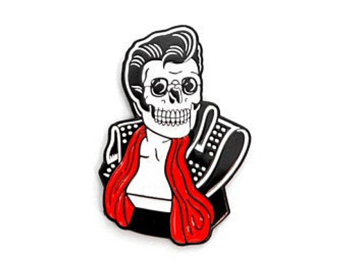 SKELETON HELLVIS ENAMEL PIN