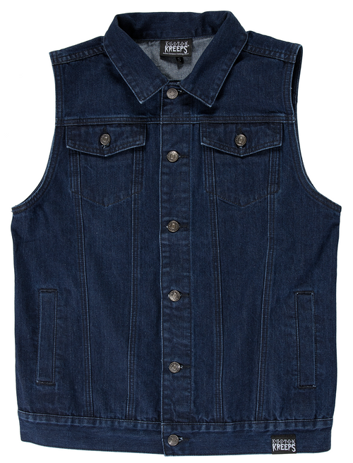 KUSTOM KREEPS BLUE DENIM VEST
