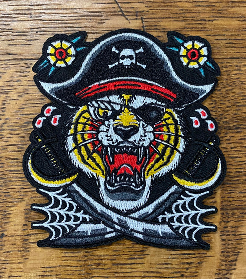 Bridge City Brand Tiger Pirate Patch