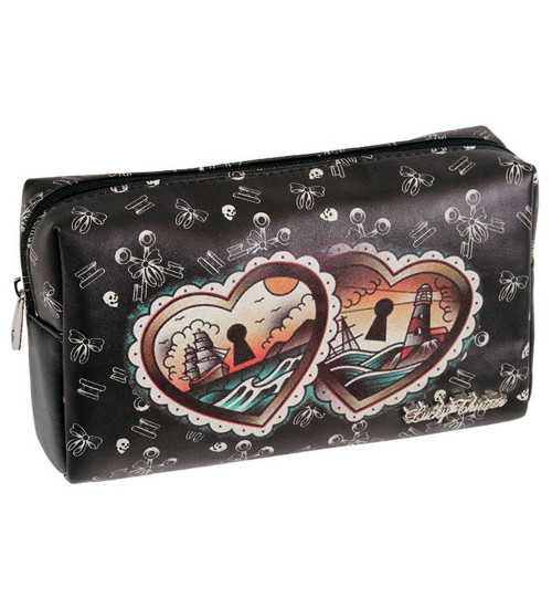 Lucky 13 Heart Locket Make-Up Bag