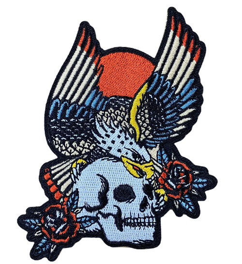Bridge City Brand Eagle and Skull Patch