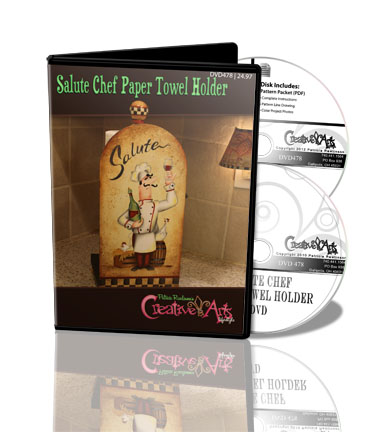 Salute Chef Paper Towel Holder DVD & Pattern Packet - Patricia Rawlinson