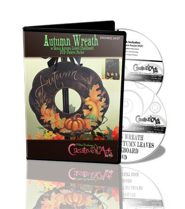 Autumn Wreath & DVD - Patricia Rawlinson