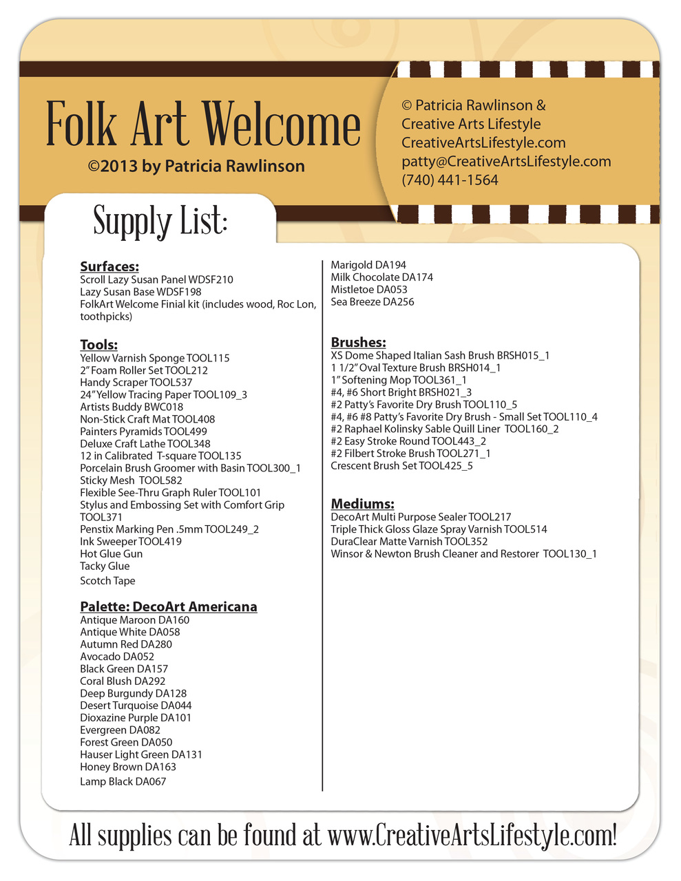 FolkArt Welcome DVD & Pattern Packet - Patricia Rawlinson