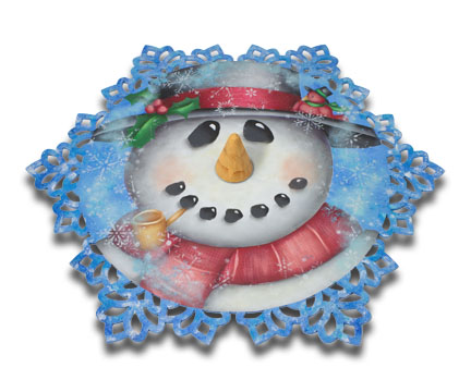 Frosty Lazy Susan DVD & Pattern Packet - Patricia Rawlinson