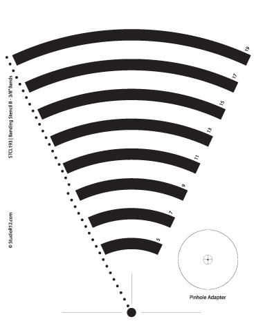 "Banding Stencil B - 3/8"""