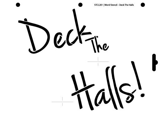 Word Stencil - Deck the Halls